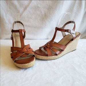 Rock & Candy strappy sandals, espadrille wedges